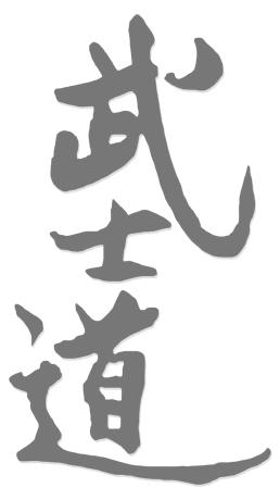 Chinesisches Zeichen - Bushido