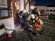 Feuerwehrübung im Vereinsraum
